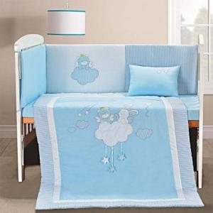 Σετ προίκας Beyond imagination Art 5106 Σετ 4τμχ Λευκό,Γαλάζιο Beauty Home